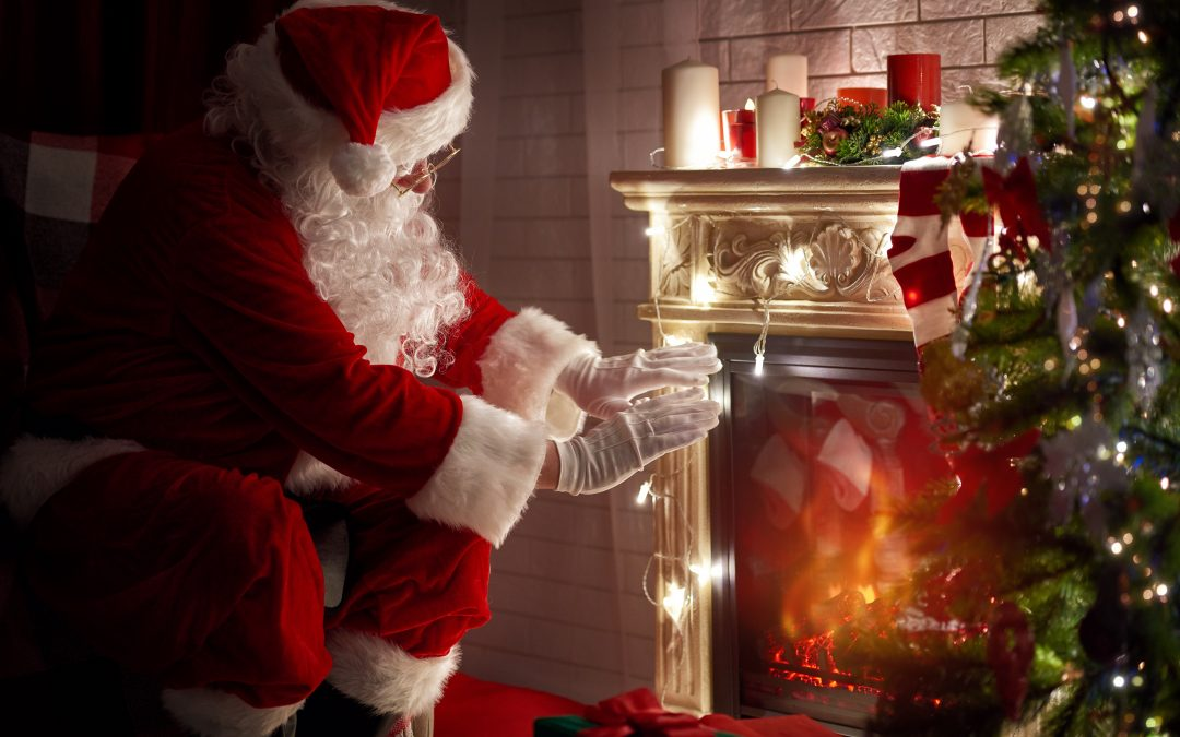 Santa Claus Briefed On Latest Fireplace Models